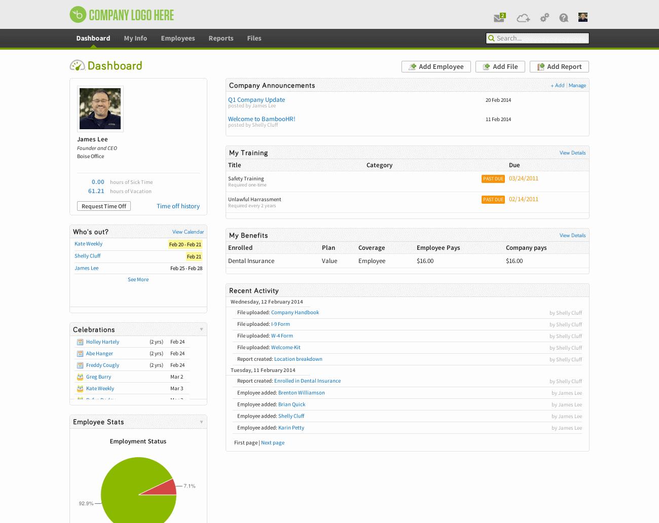 bamboohr review by inspector jones bamboohr screenshot