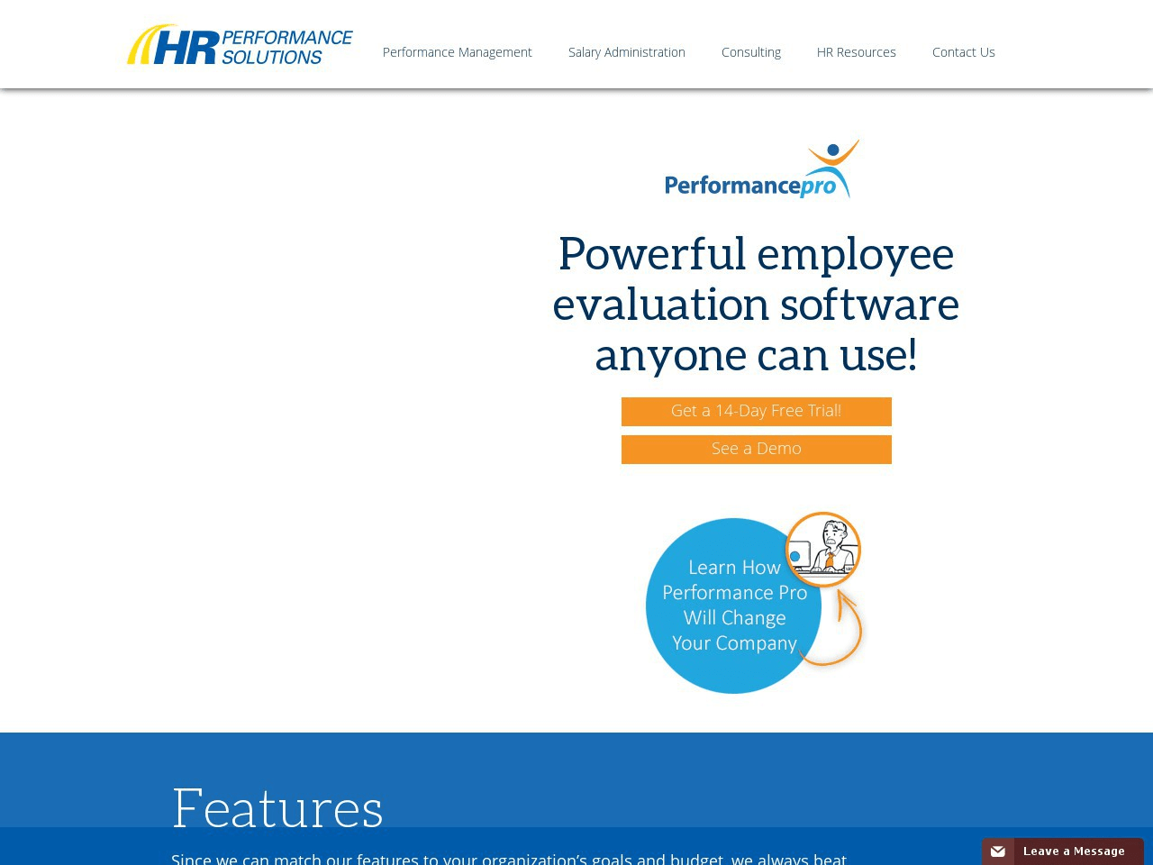 HRNOnline Performance Screenshot